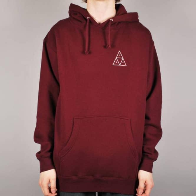 Najnowsza moda Nowy Jork piękno Triple Triangle Pullover Hoodie - Burgundy