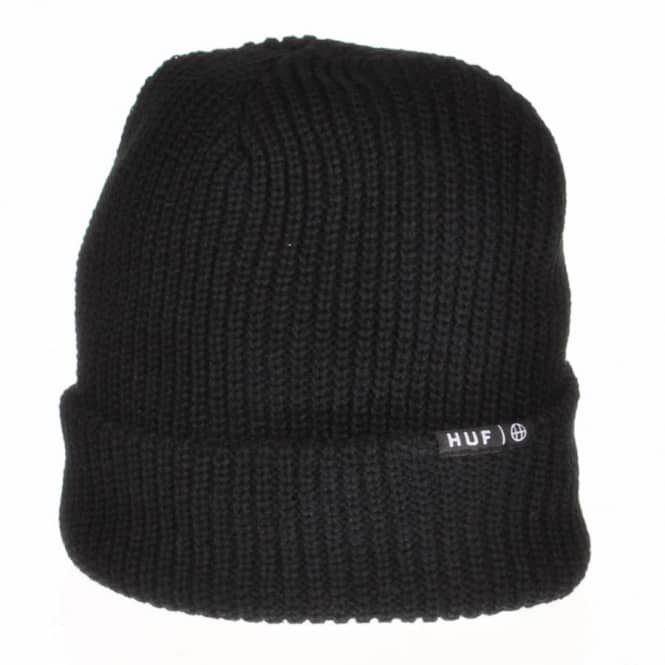 HUF Huf Usual Single Fold Beanie - Black - Beanies from Native Skate ... aafcd9e6b05d