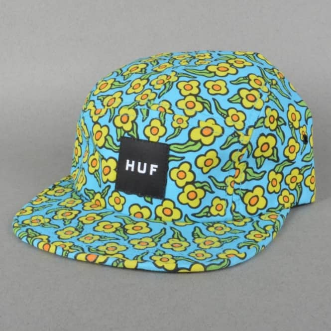 3e0a1a8d99f5a HUF X Krooked Flowers Volley 5 Panel Cap - Peacock - SKATE CLOTHING ...