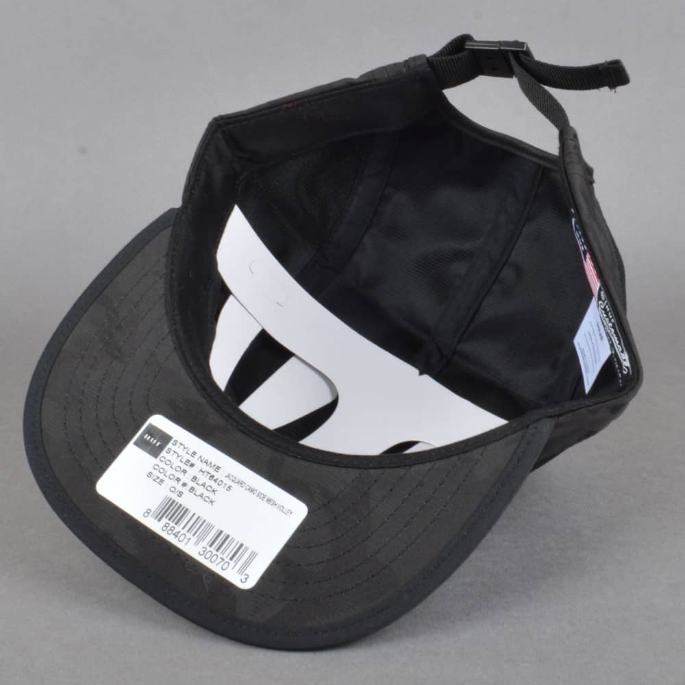 HUF Jaqquard Camo Side Mesh Volley Cap - Black - SKATE CLOTHING from ... eef06d7a19b5