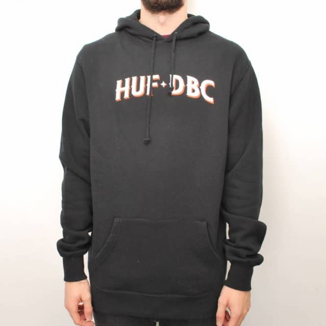 HUF Huf League Pullover Hoodie - Black