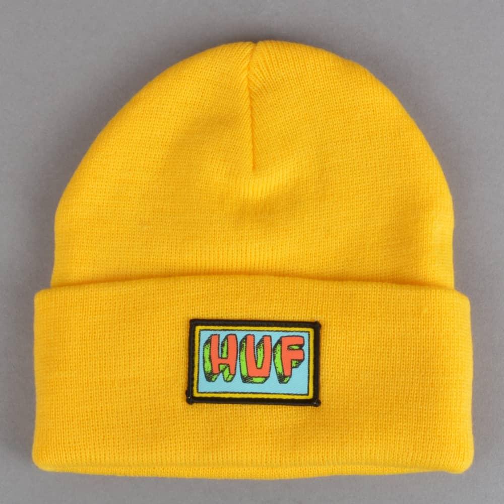 HUF Mar Vista Beanie - Yellow - SKATE CLOTHING from Native Skate ... 5618fabd7c75