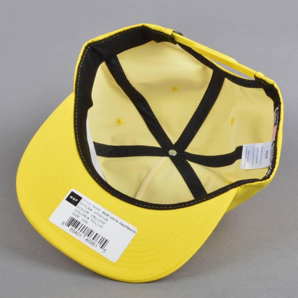 HUF Mar Vista Snapback Cap - Yellow - SKATE CLOTHING from Native ... 468e5c29a9d4