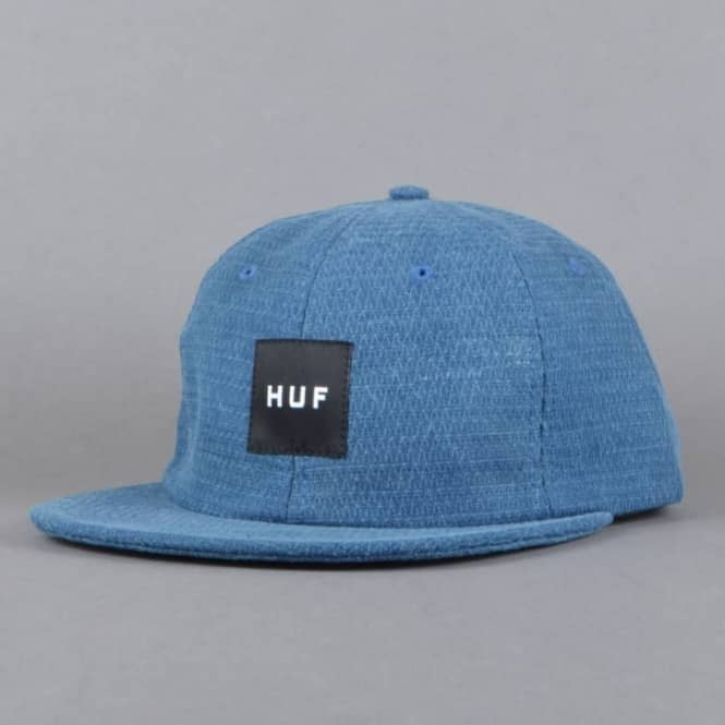 HUF Micro Quilted 6 Panel Strapback Cap - Slate