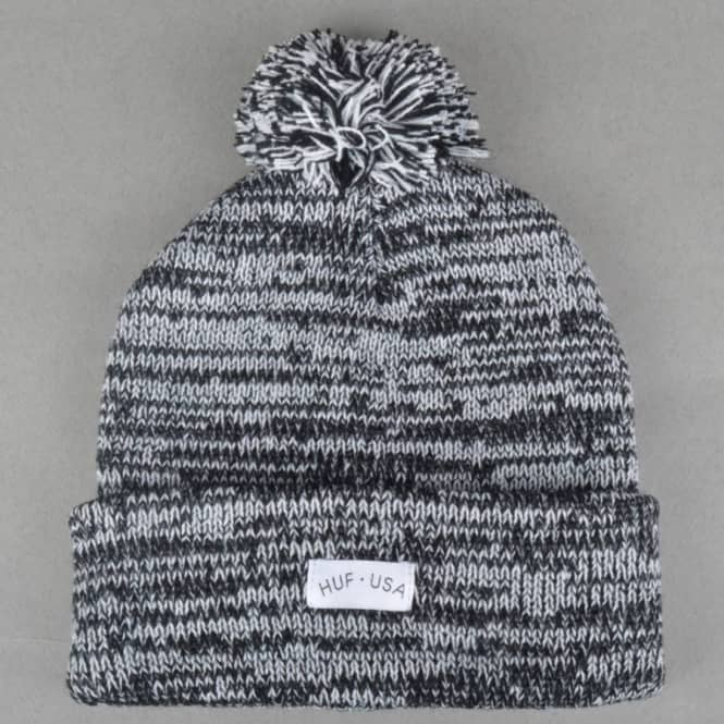 HUF Mixed Pom Beanie - Black - Beanies from Native Skate Store UK 0bf39f76b2ac