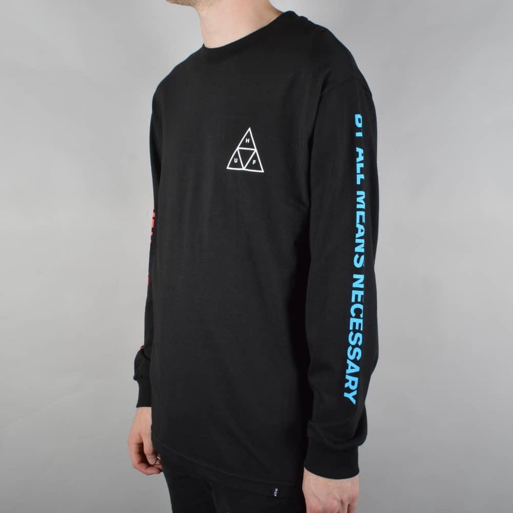 Multi Triple Triangle Longsleeve T-Shirt - Black