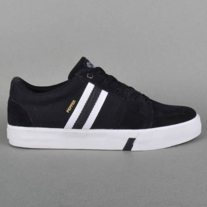 HUF Pepper Pro Skate Shoes - Black/White Perf