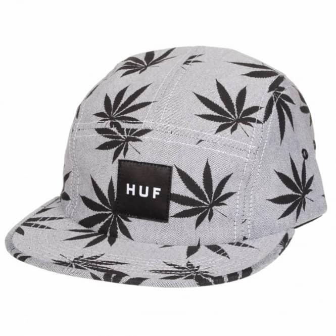 8fd26cda59808 HUF Huf Plantlife Box Logo 5 Panel Volley Cap - Black/Grey - Caps ...