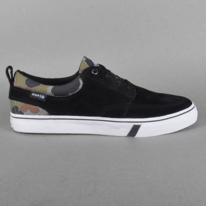 HUF Ramondetta Pro Skate Shoes - Jet Black/Camo