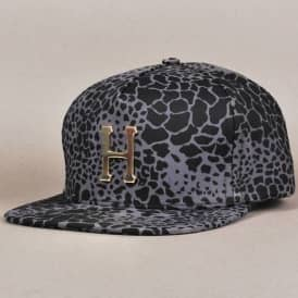 Shell Shock Camo Metal H Strapback Cap - Black
