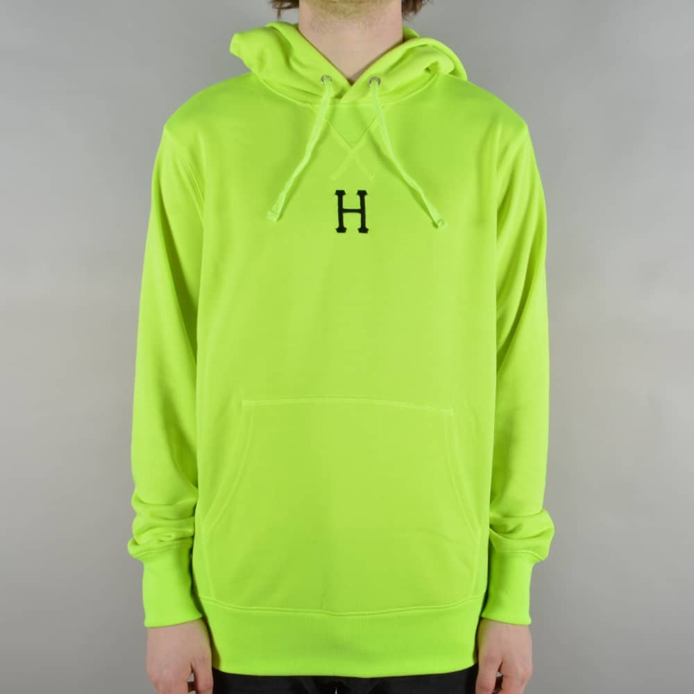 7c06adb3e HUF State Pullover Hoodie - Fluoro Yellow - SKATE CLOTHING from ...