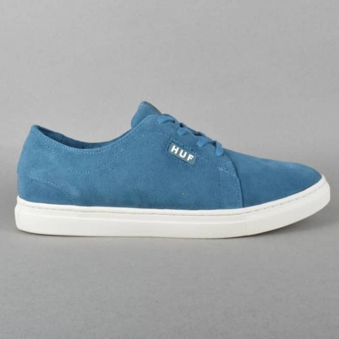 HUF State Skate Shoes - Slate Blue/Bone