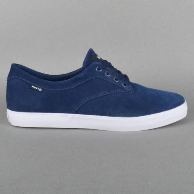 HUF Sutter Skate Shoes - Navy Suede