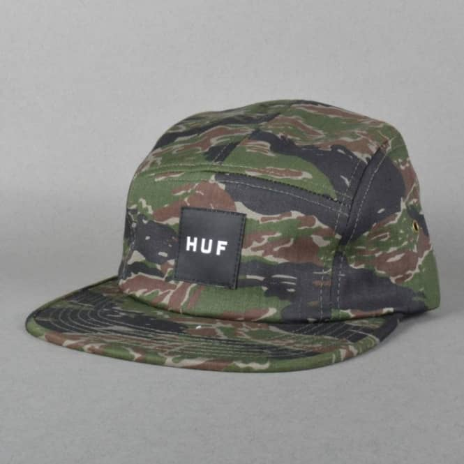 HUF Tiger Camo Volley 5 Panel Cap - Olive Camo - Caps from Native ... e6234760bdd