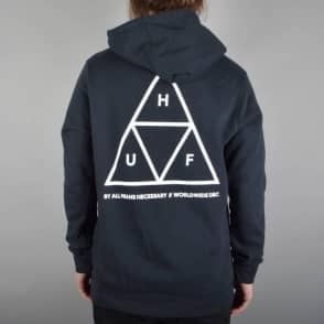 HUF Triple Triangle Pullover Hoodie - Navy