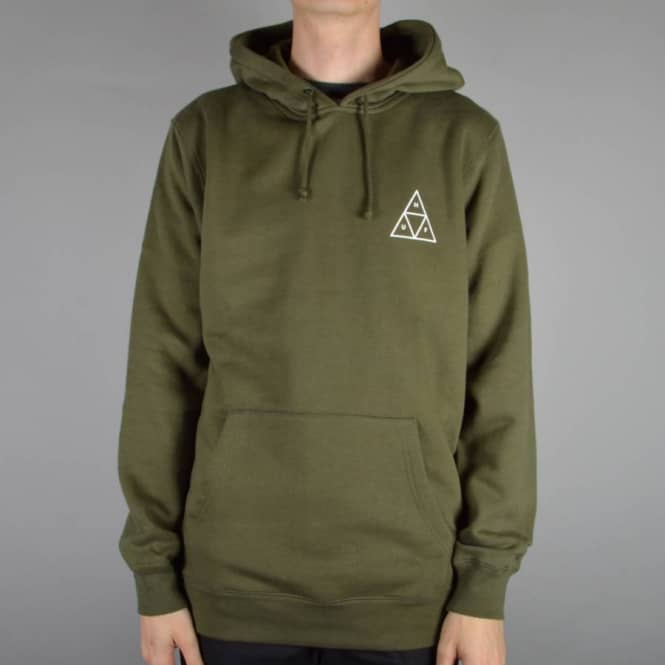 1510ee7d5 HUF Triple Triangle Pullover Hoodie - Olive Green - SKATE CLOTHING ...