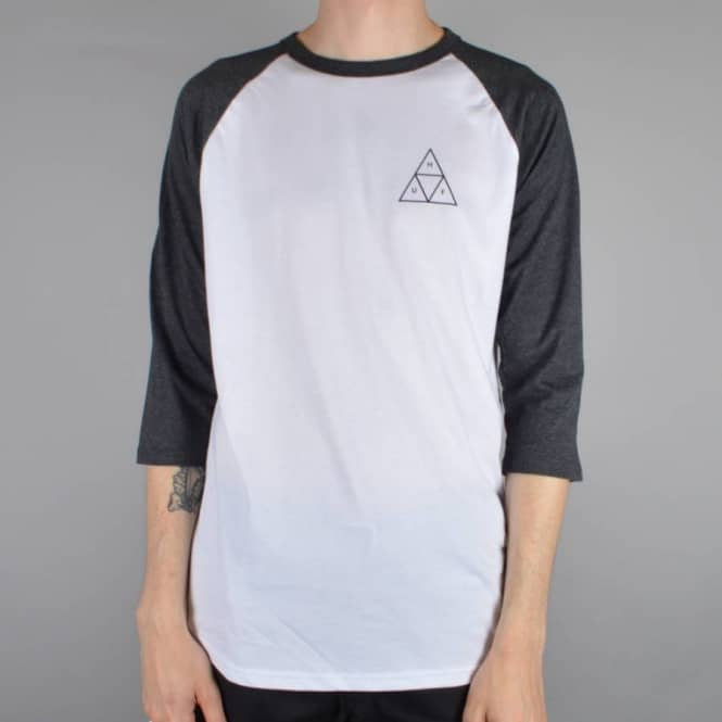 HUF Triple Triangle Raglan T-Shirt - Charcoal Heather