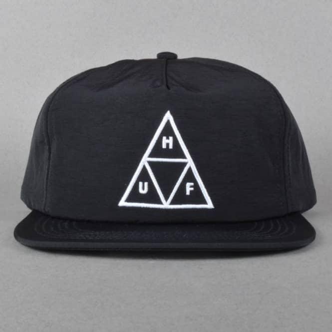 HUF Triple Triangle Snapback Cap - Black - Caps from Native Skate ... c0eff7d0f06b