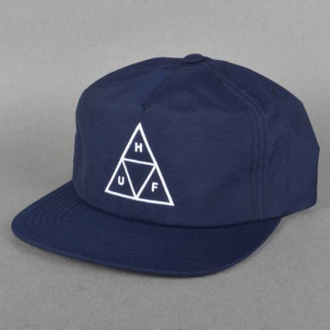 HUF Triple Triangle Snapback Cap - Navy - SKATE CLOTHING from Native ... 62c864accdb1