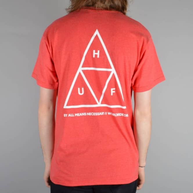 HUF Triple Triangle T-Shirt - Red Heather