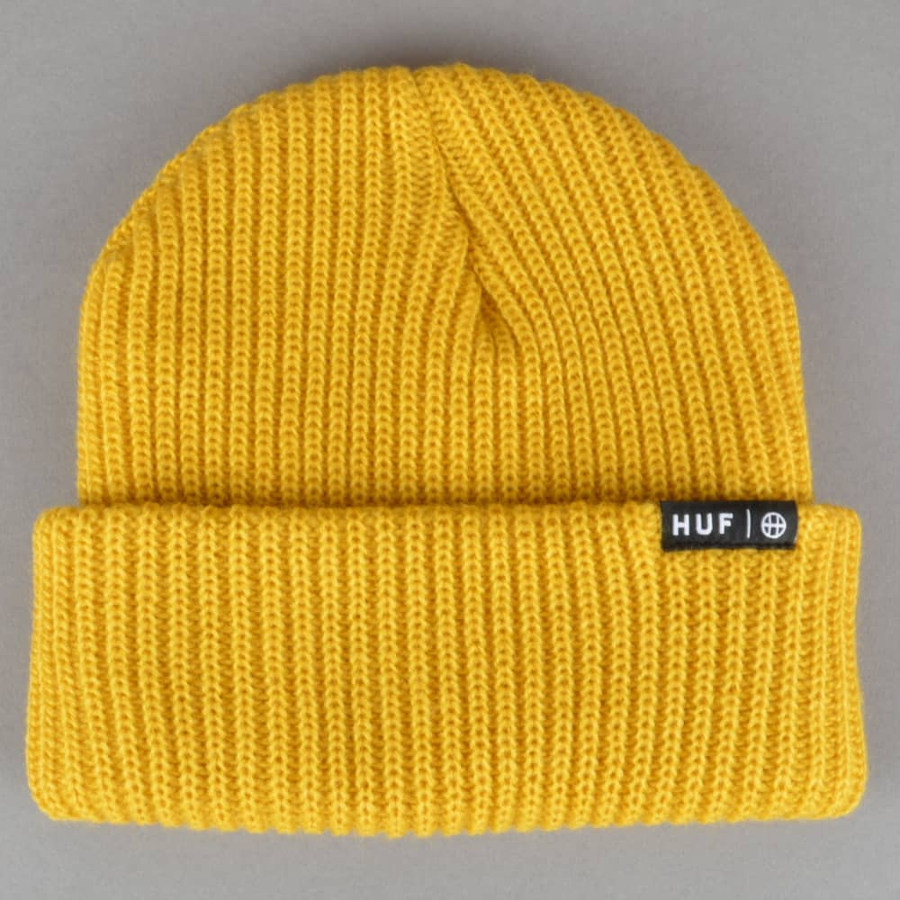 HUF Usual Beanie - Mustard - SKATE CLOTHING from Native Skate Store UK fd5e90ee243