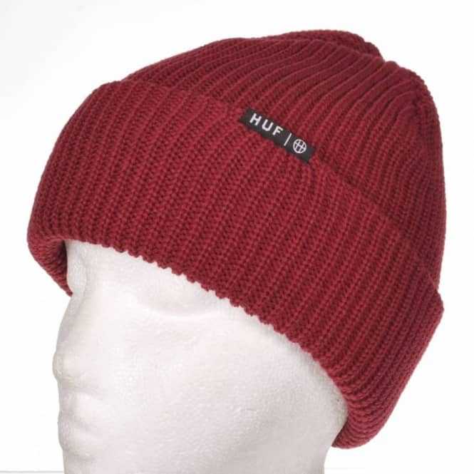 HUF Huf Usual Beanie - Red - Beanies from Native Skate Store UK 1f72f0a8204