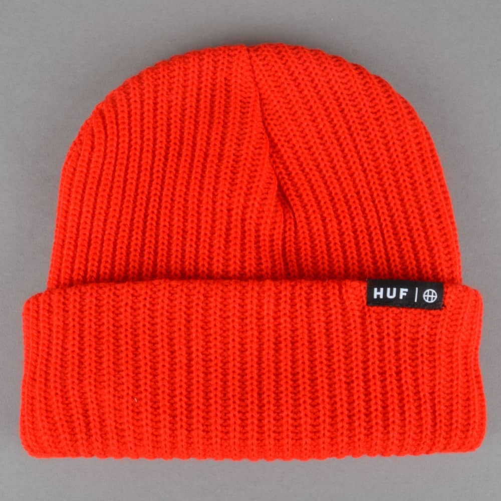 HUF Usual Beanie - Red - SKATE CLOTHING from Native Skate Store UK 582fd23ce47
