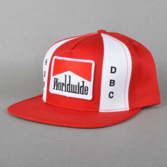 HUF Worldwide Snpaback Cap - Red