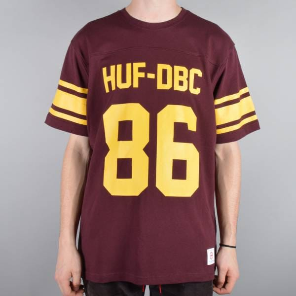 HUF Wrecking Crew Football Jersey - Wine - SKATE CLOTHING from ... d37ee023a