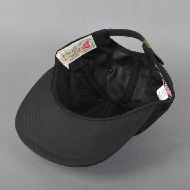 HUF x British Millerain Waxed 6 Panel Cap - Black - SKATE CLOTHING ... ea239b2c543d