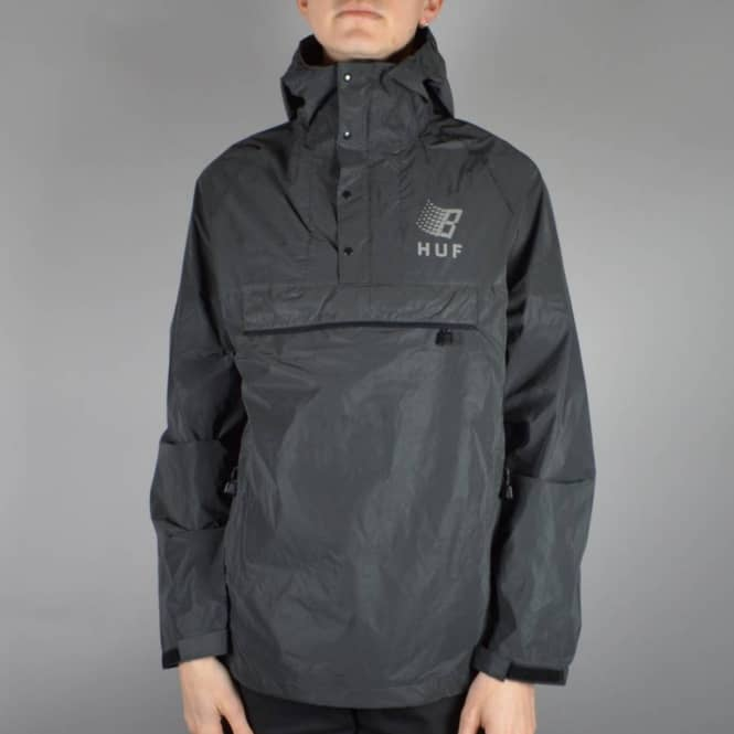 53615c42e34ad HUF X Bronze Packable Reflective Anorak - Black