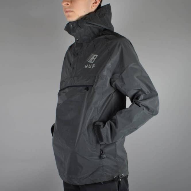 cbab723d402d3 HUF X Bronze Packable Reflective Anorak - Black - SKATE CLOTHING ...