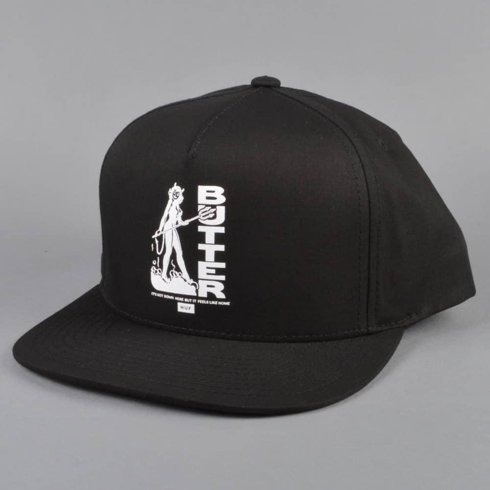 7ec4f6183b0 HUF x Butter Goods Devil Snapback Cap - Black - SKATE CLOTHING from ...