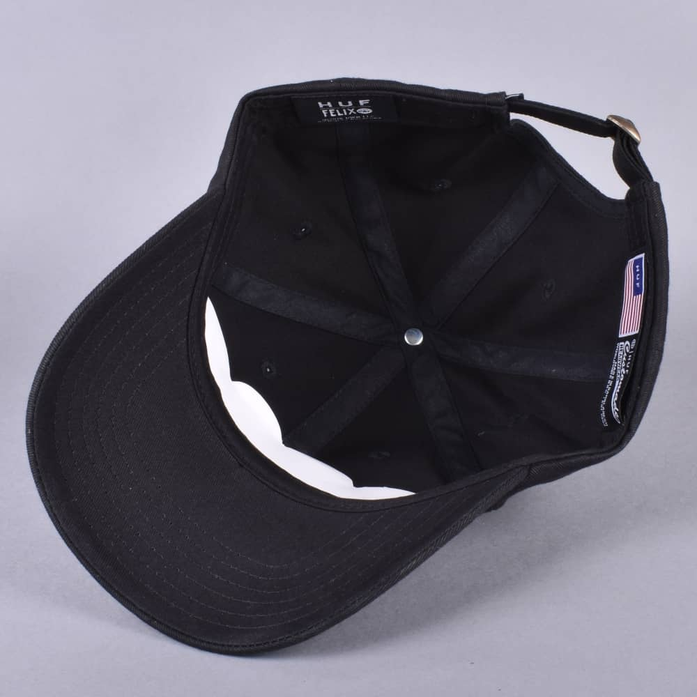 6ff34ceefda HUF x Felix Skate Curved Brim Dad Cap - Black - SKATE CLOTHING from ...