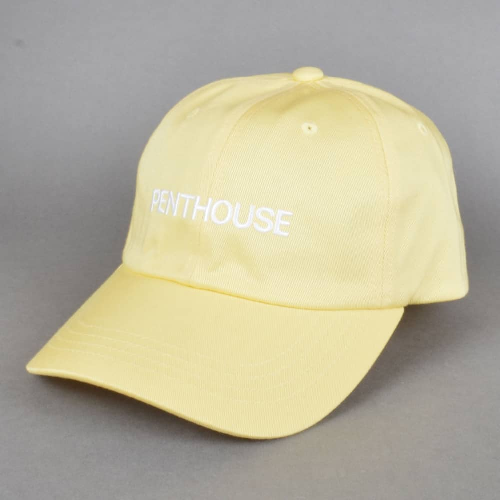 034738718bb HUF x Penthouse Curved Brim Dad Cap - Banana - SKATE CLOTHING from ...