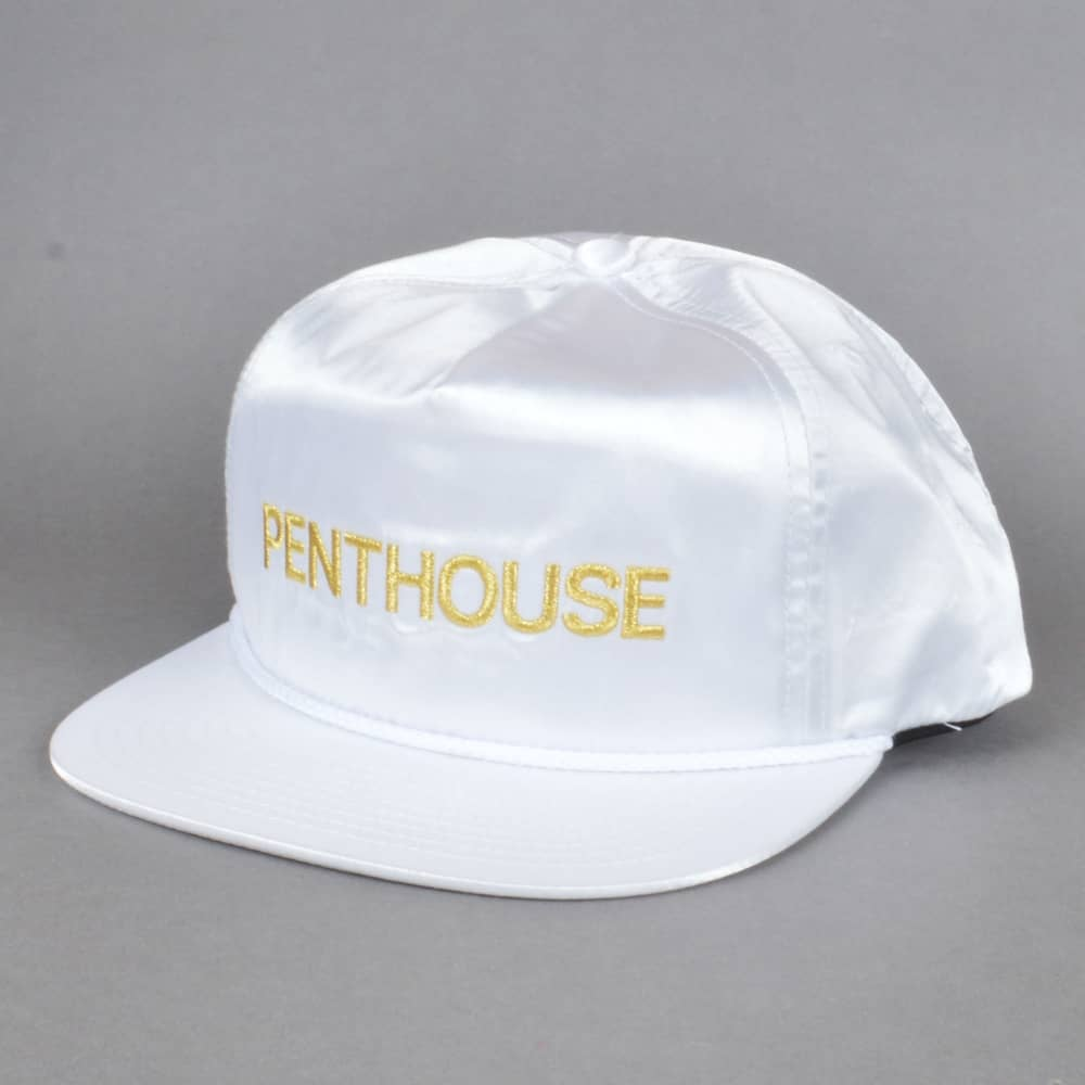 43dd75e3ab7 HUF x Penthouse Satin Snapback Cap - White - SKATE CLOTHING from ...