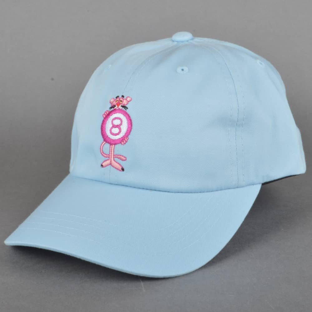 HUF x Pink Panther 8 Ball Dad Cap - Light Blue - SKATE CLOTHING from ... c9fc1f991472