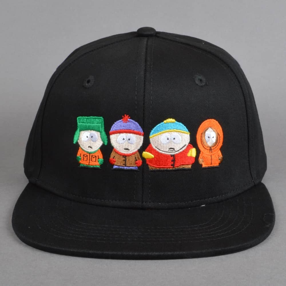 HUF x South Park Kids Strapback Cap - Black - SKATE CLOTHING from ... 2f8221dbd2fc