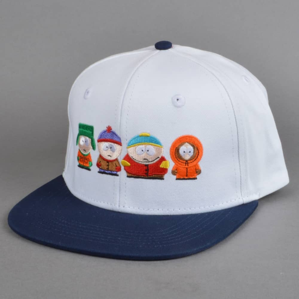 HUF x South Park Kids Strapback Cap - White - SKATE CLOTHING from ... d8df19012d7b