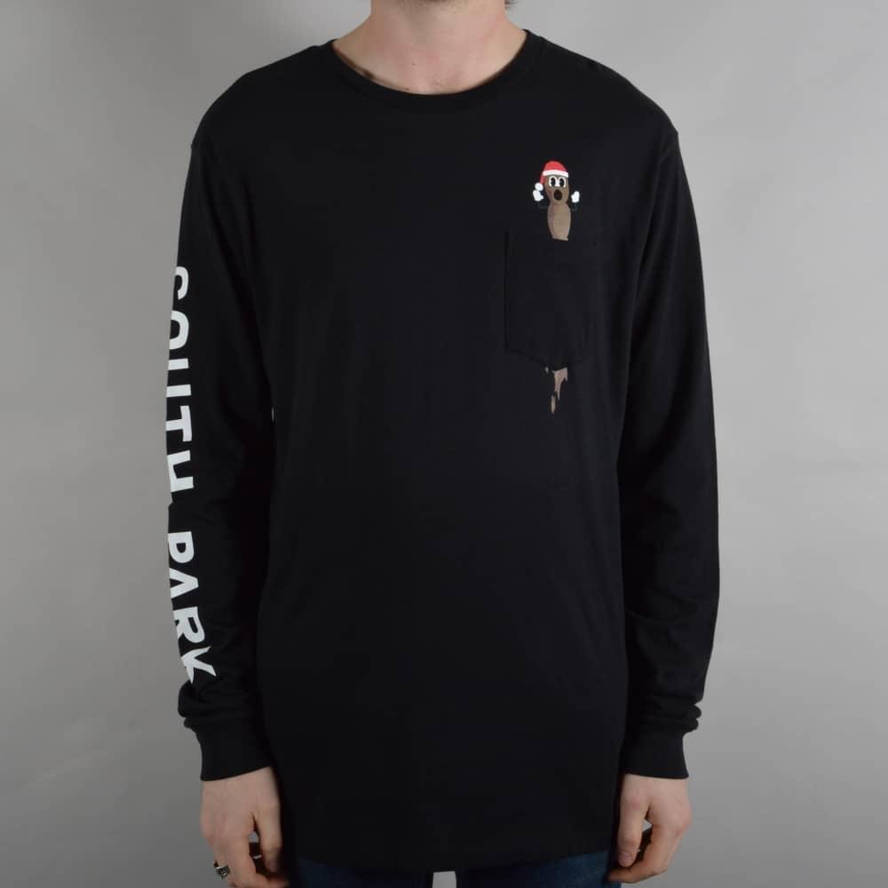 081b2906cc2 HUF x South Park Mr Hanky Longsleeve Pocket T-Shirt - Black - SKATE ...
