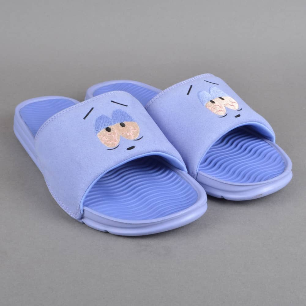 38baf3d81740 huf x south park towelie slides flip flops purple skate shoes . purple  slides. where to buy rihannas fenty puma fur ...
