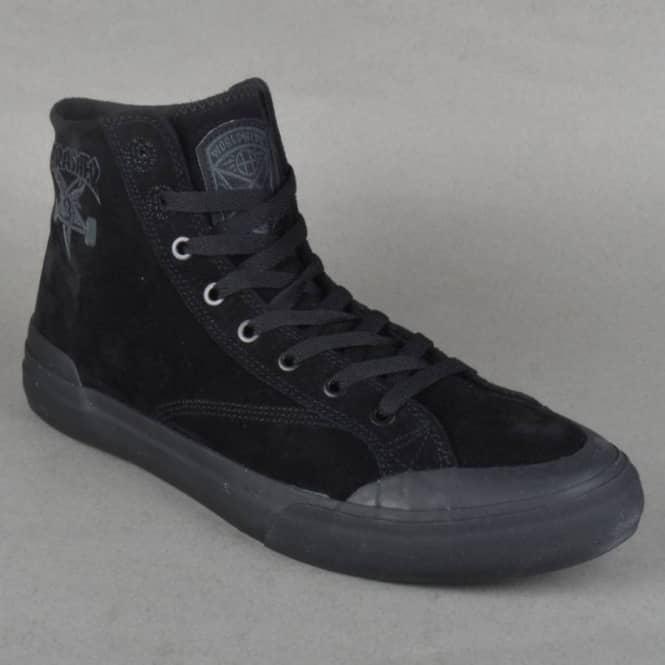 HUF x Thrasher Classic Hi Shoes Black | Flatspot