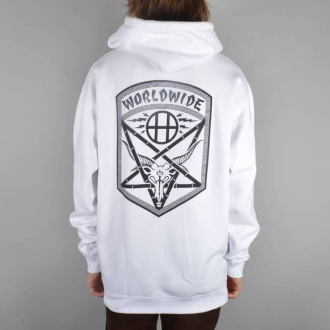 558a1ab0452 HUF X Thrasher Asia tour Pullover Hoodie - White - Hooded Tops from ...