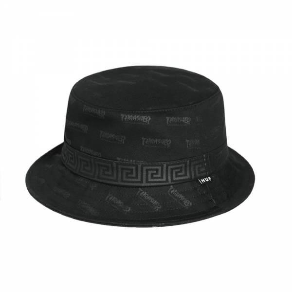 8dd22926ed9 HUF X Thrasher Bucket Hat - Black - SKATE CLOTHING from Native Skate ...