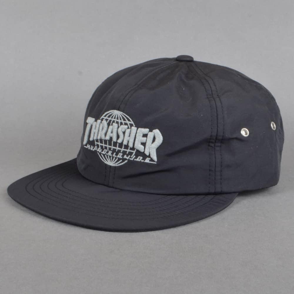 f452034e136c2 HUF x Thrasher TDS 6 Panel Strapback Cap - Black - SKATE CLOTHING ...