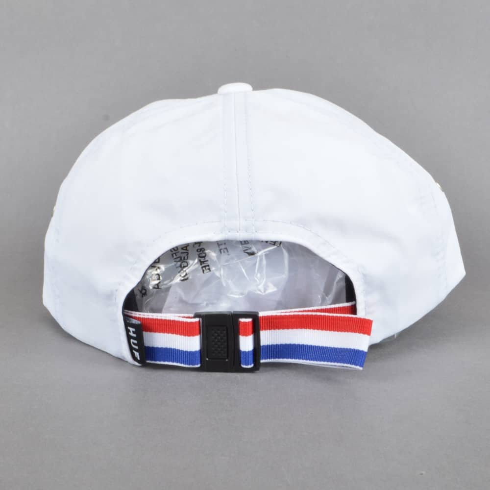HUF x Thrasher TDS 6 Panel Strapback Cap - White - SKATE CLOTHING ... cd0ded3a311a