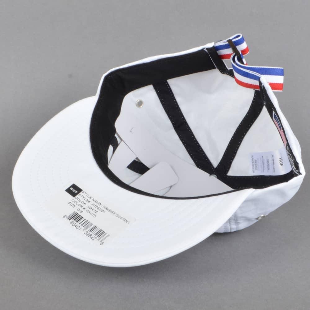 804d427903d HUF x Thrasher TDS 6 Panel Strapback Cap - White - SKATE CLOTHING ...