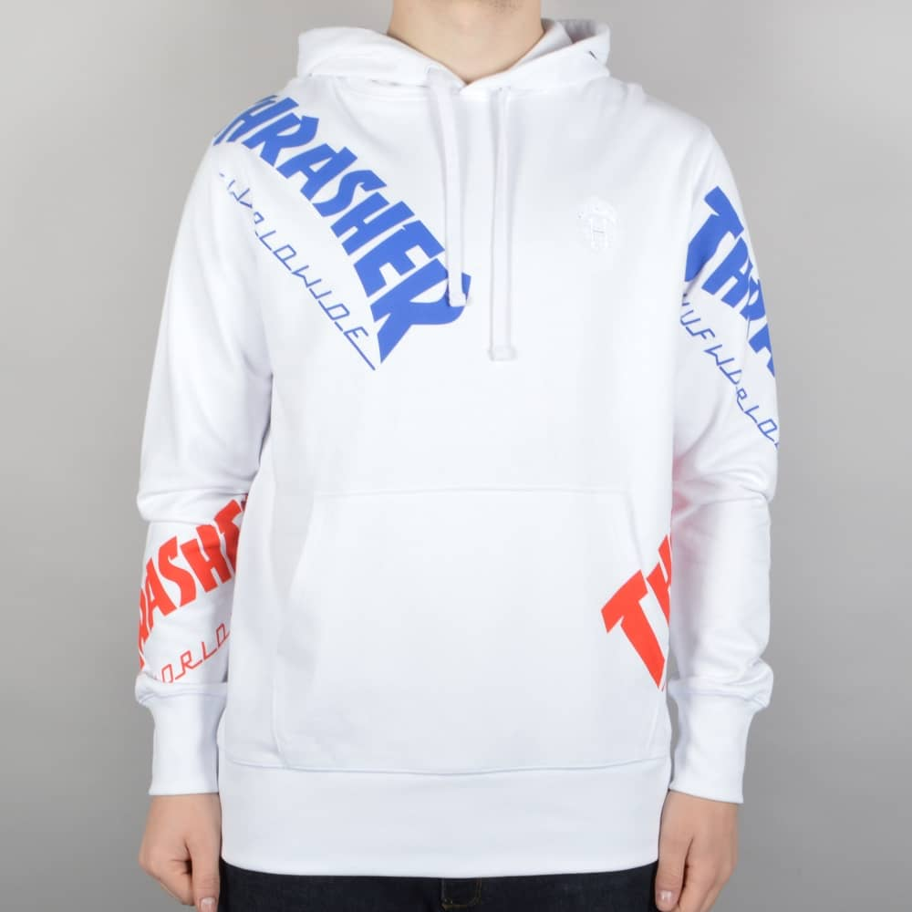6680f7bb4cf HUF x Thrasher TDS Allover Hoodie - White - SKATE CLOTHING from ...
