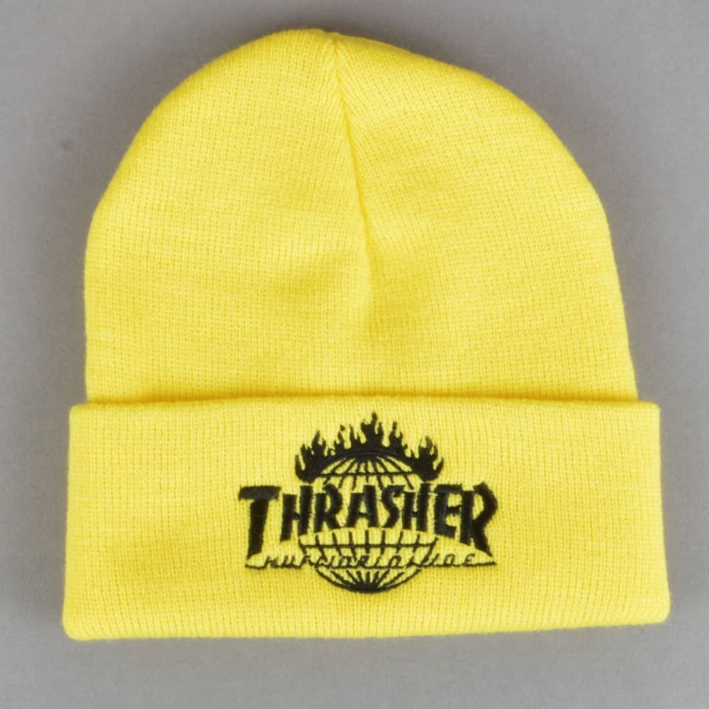 HUF x Thrasher TDS Beanie - Yellow - SKATE CLOTHING from Native ... ef697072ba9