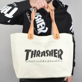 HUF X Thrasher TDS Canvas Tote Bag - White